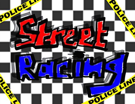 illustration of the urban style street racing graffity illustration