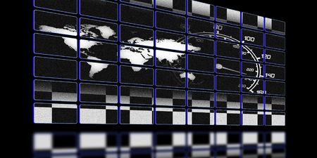 illustration of the around the world race screen Stock Illustration - 6340489