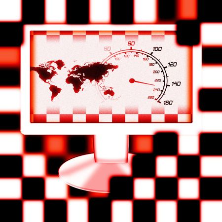 illustration of the around the world racing monitor illustration
