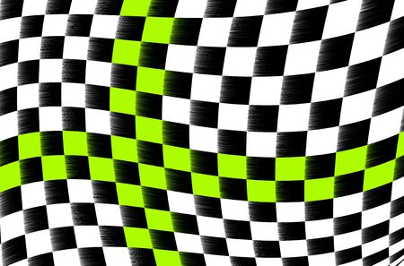 sidecar motocross racing: illustration of the abstract black and white checkered flag Stock Photo