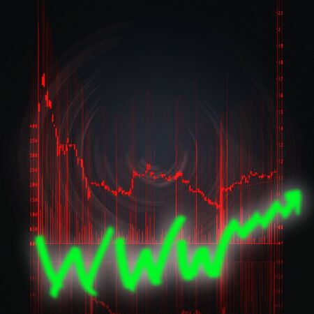 illustration of the red stock market chart Stock Illustration - 6559661
