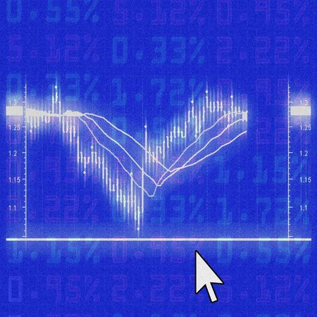 illustration of the stock market chart Stock Illustration - 6627804