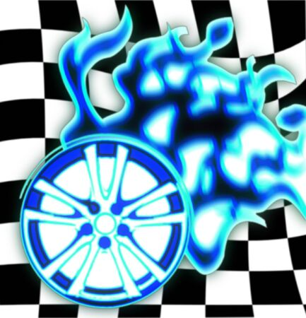 illustration of the burning wheel illustration