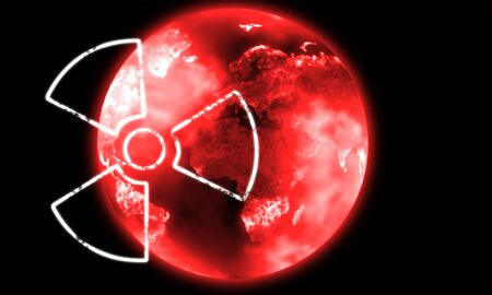 illustration of the red nuclear earth Stock Illustration - 6737841