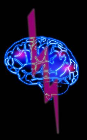 illustration of the abstract blue brain illustration