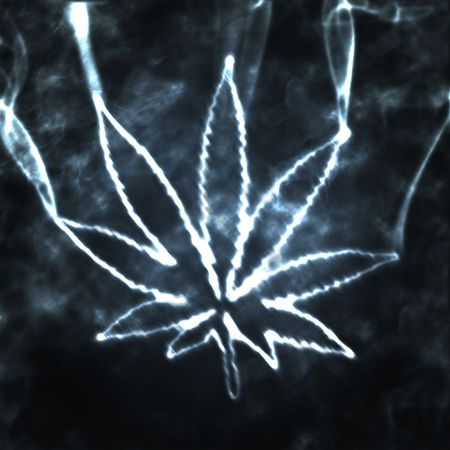 illustratian of the abstract smoking marijuana Stock Photo