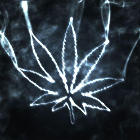 illustratian of the abstract smoking marijuana Stock Photo