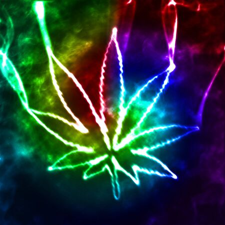 illustratian of the abstract smoking marijuana Stock Photo - 6976864