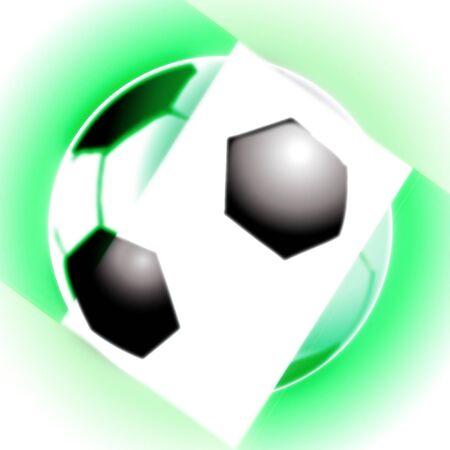 illustration of the nigeria football soccer ball Stock Illustration - 6976868