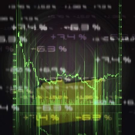 illustration of the red stock market chart illustration