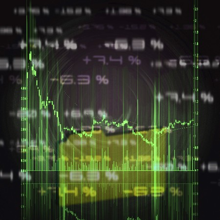 stock illustration: illustration of the red stock market chart Stock Photo