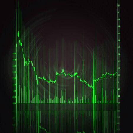 illustration of the red stock market chart Stock Illustration - 7246604