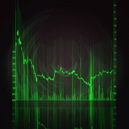 illustration of the red stock market chart Stock Illustration - 7246604