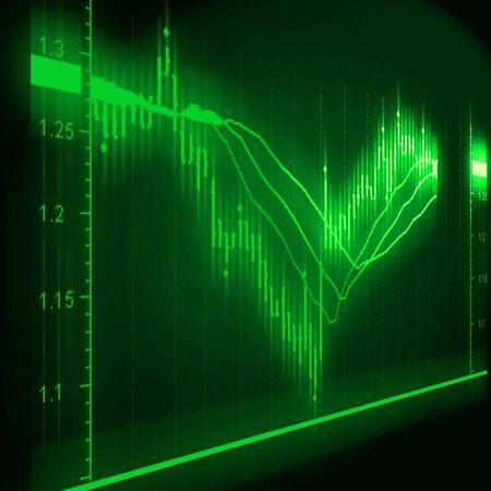 illustration of the stock market chart Stock Illustration - 7246603