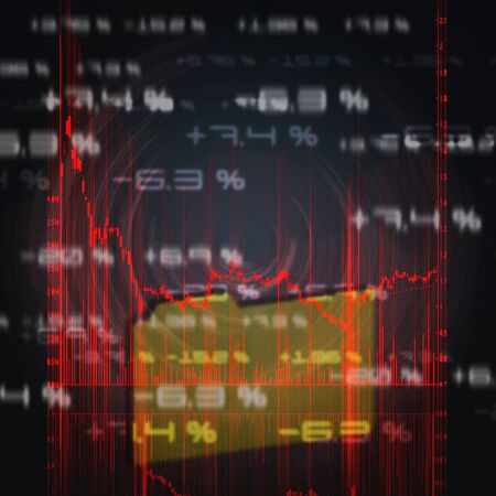 illustration of the red stock market chart Stock Illustration - 7282379