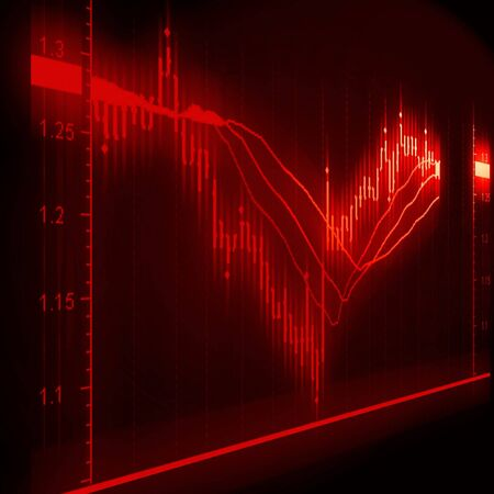illustration of the stock market chart Stock Illustration - 7282378
