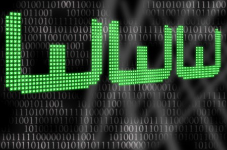 illustration of the led typed www and binary code Stock Illustration - 7323091