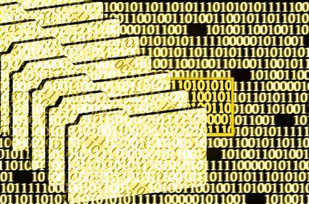 debug: illustration of the detected error in binary code Stock Photo