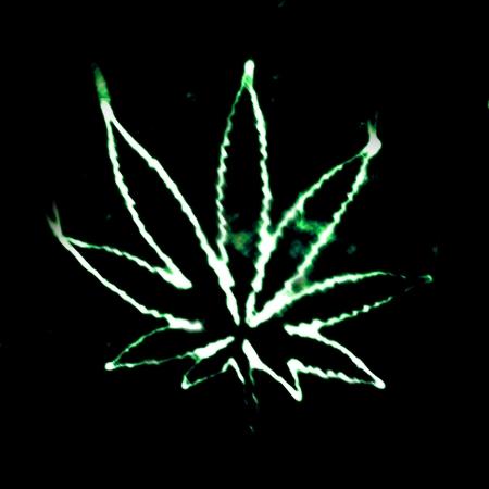 illustratian of the abstract smoking marijuana Stock Photo - 8483527