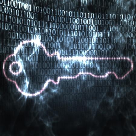 bin�rcode: Abbildung des Schl�ssels und des bin�ren Code Passwort Lizenzfreie Bilder