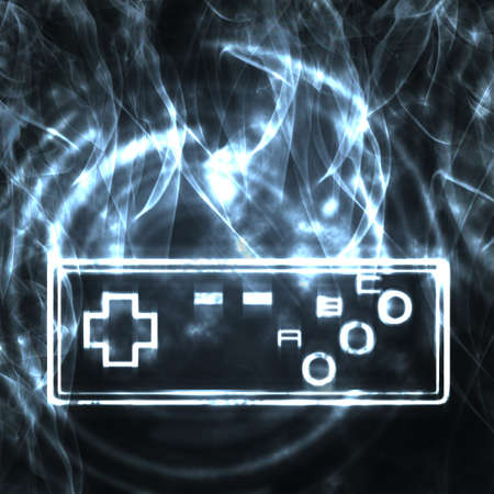 gamepads: abstract illustration of the video game joystick Stock Photo