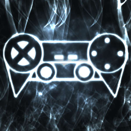 gamepads: abstract illustration of the videogame joystick