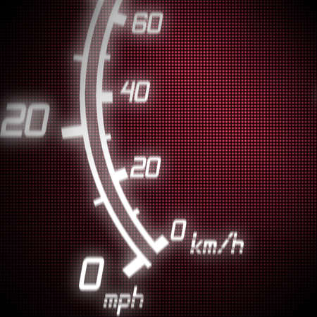 part of futuristic speedometer blue photo