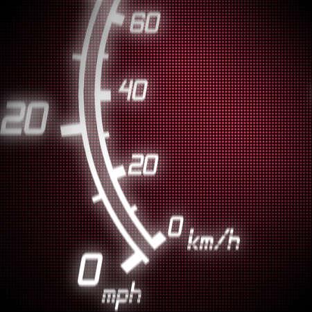 part of futuristic speedometer blue photo