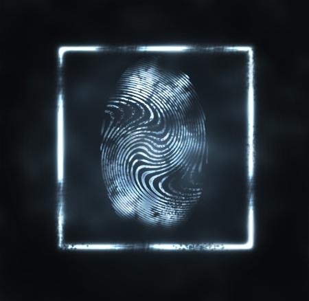 odcisk kciuka: abstrakcyjna ilustracja wydruku w ramce palca