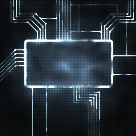 futrustic abstract illustration of the screen and chipset