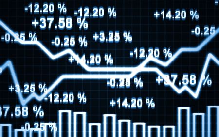 graph report: illustration of the abstract market chart and digits Stock Photo