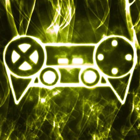 abstract illustration of the videogame joystick Stock Illustration - 9373821
