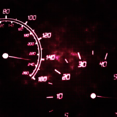 tachometer: the speedometer and tachometer speeding abstract illustration Stock Photo