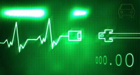cinturon seguridad: Resumen escuchar ilustraci�n de monitor y cintur�n de tbeat Foto de archivo