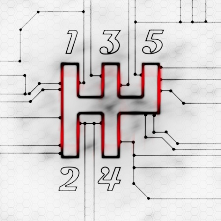 versnellingspook en de chipset moderne abstracte illustratie