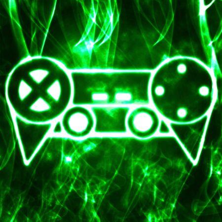 joypad: abstract illustration of the videogame joystick