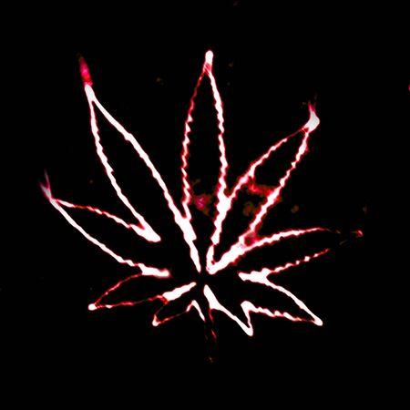 illustratian of the abstract smoking marijuana photo