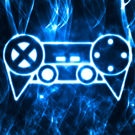 abstract illustration of the videogame joystick Stock Illustration - 9806099