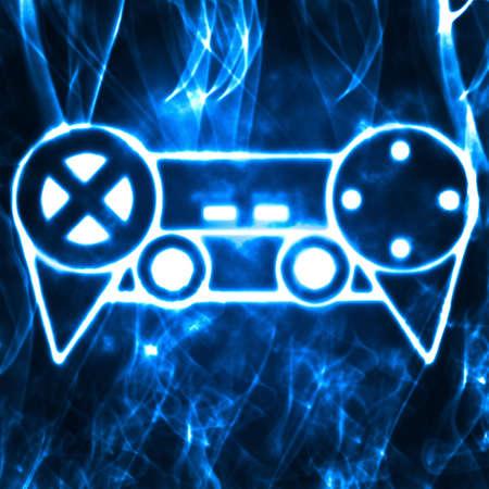 abstract illustration of the videogame joystick Stock Illustration - 9806099