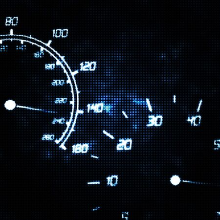mph: the speedometer and tachometer speeding abstract illustration Stock Photo