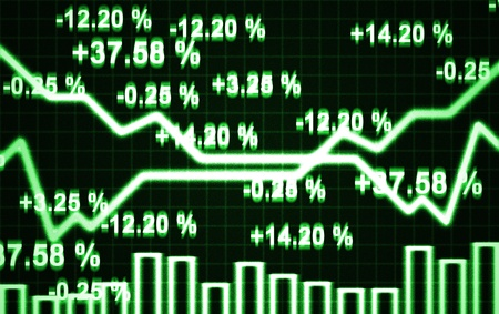 illustration of the abstract market chart and digits Stock Photo