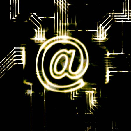 chipset: abstract email sign and chipset modern illustration