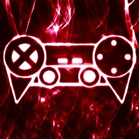 abstract illustration of the videogame joystick Stock Illustration - 10059647
