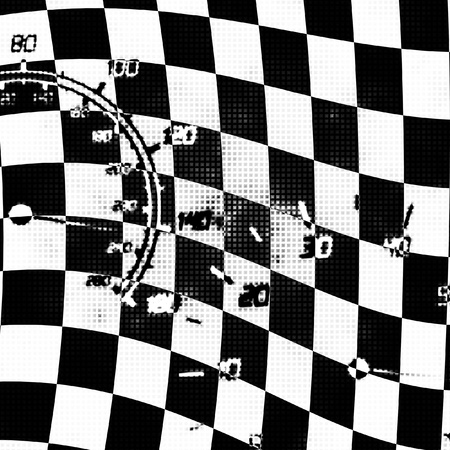 the speedometer and tachometer speeding abstract illustration Stok Fotoğraf