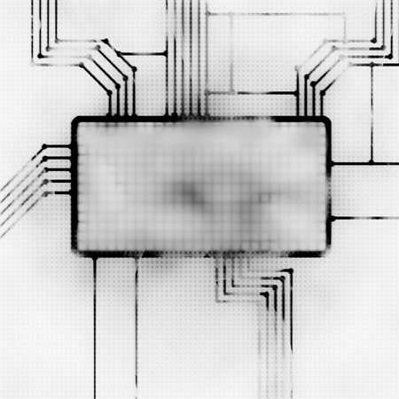 logical: futrustic abstract illustration of the screen and chipset