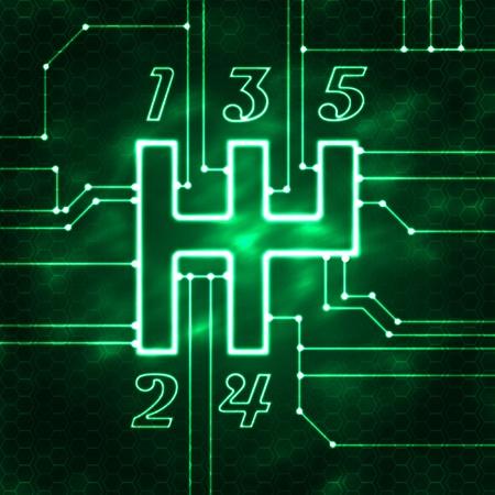 changement de vitesse et chipset illustration moderne abstraite