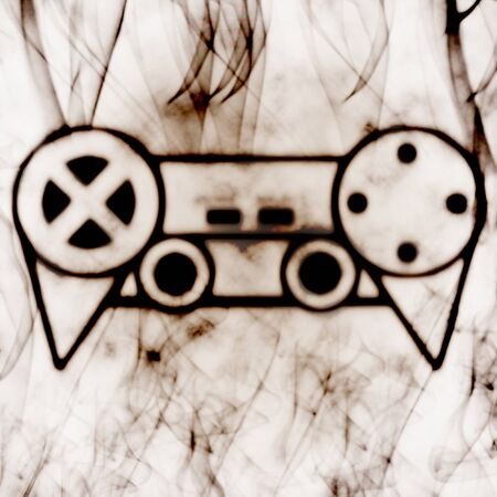 abstract illustration of the videogame joystick Stock Illustration - 10382576