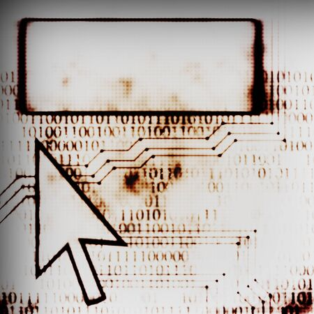 chipset: chipset computer arrow and screen abstract modern illustration