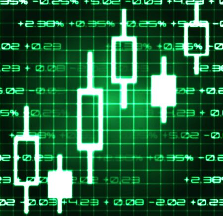 currency exchange: stock market exchange japanese candles abstract illustration