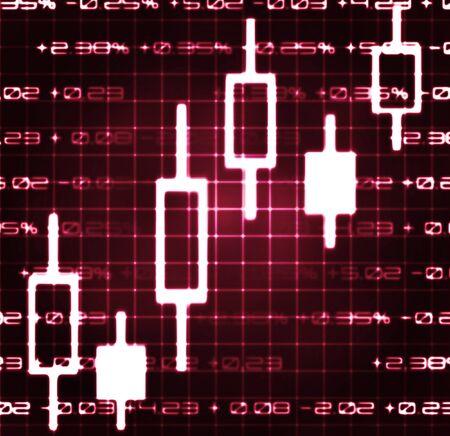 stock market exchange japanese candles abstract illustration Stock Illustration - 17113317
